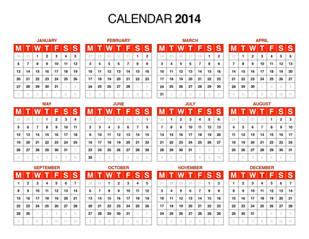 Free Download: 2014 Calendar in PDF, Illustrator (AI), InDesign