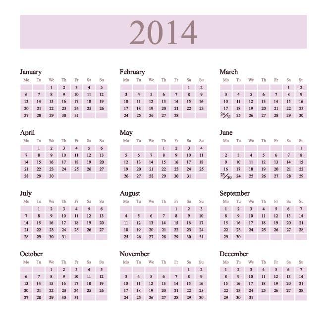 Free Calendar Template 2014 | sanjonmotel