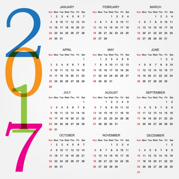 2017 calendar design Vector | Free Download