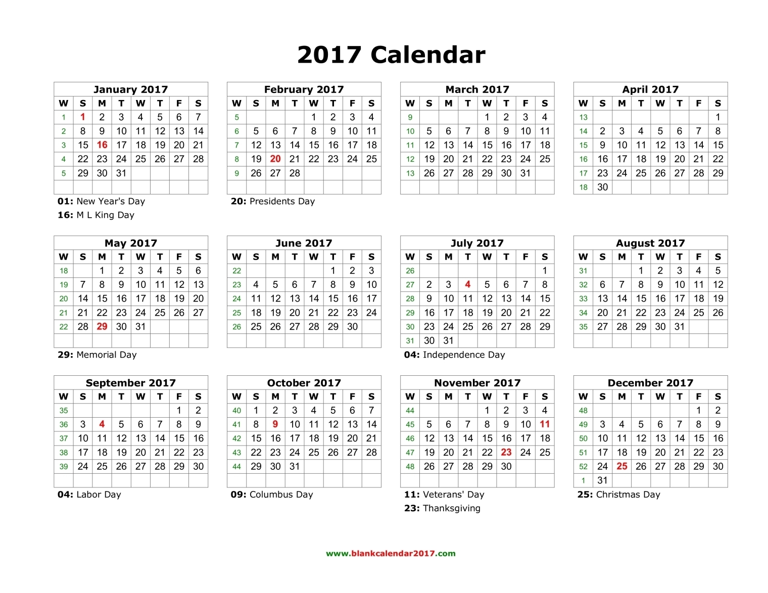 2017 Calendar Templates Download 2017 monthly & yearly templates