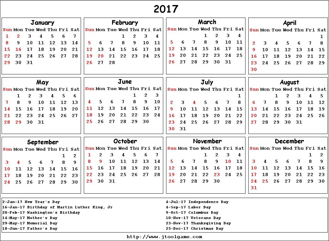 2017 Calendar Canada Hol | Calendar Template