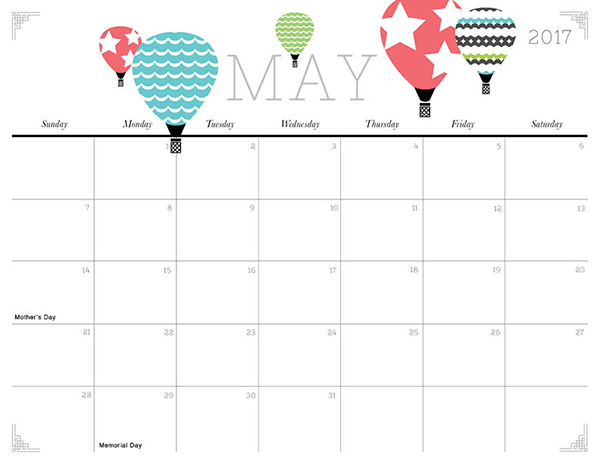 Cute and Crafty 2017 Printable Calendar iMom