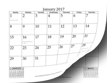 2017 calendar monthly | February Calendars