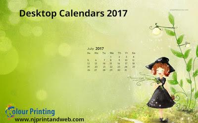 Printable 2017 Desk Calendars