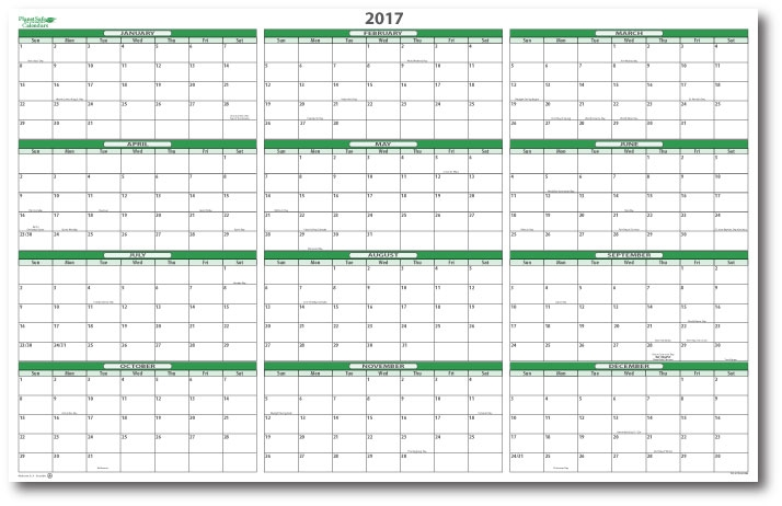 2017 Dry Erasable Wall Calendar 24