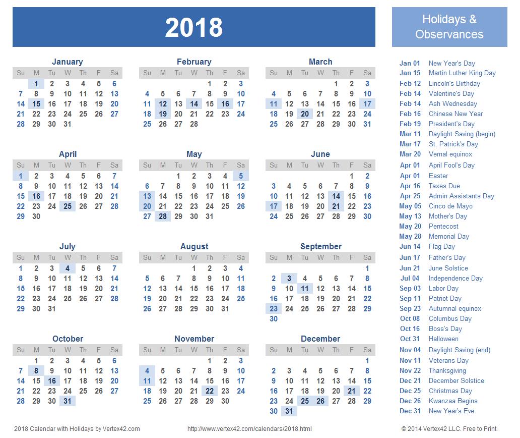 2018 Calendar Uk | printable calendar templates