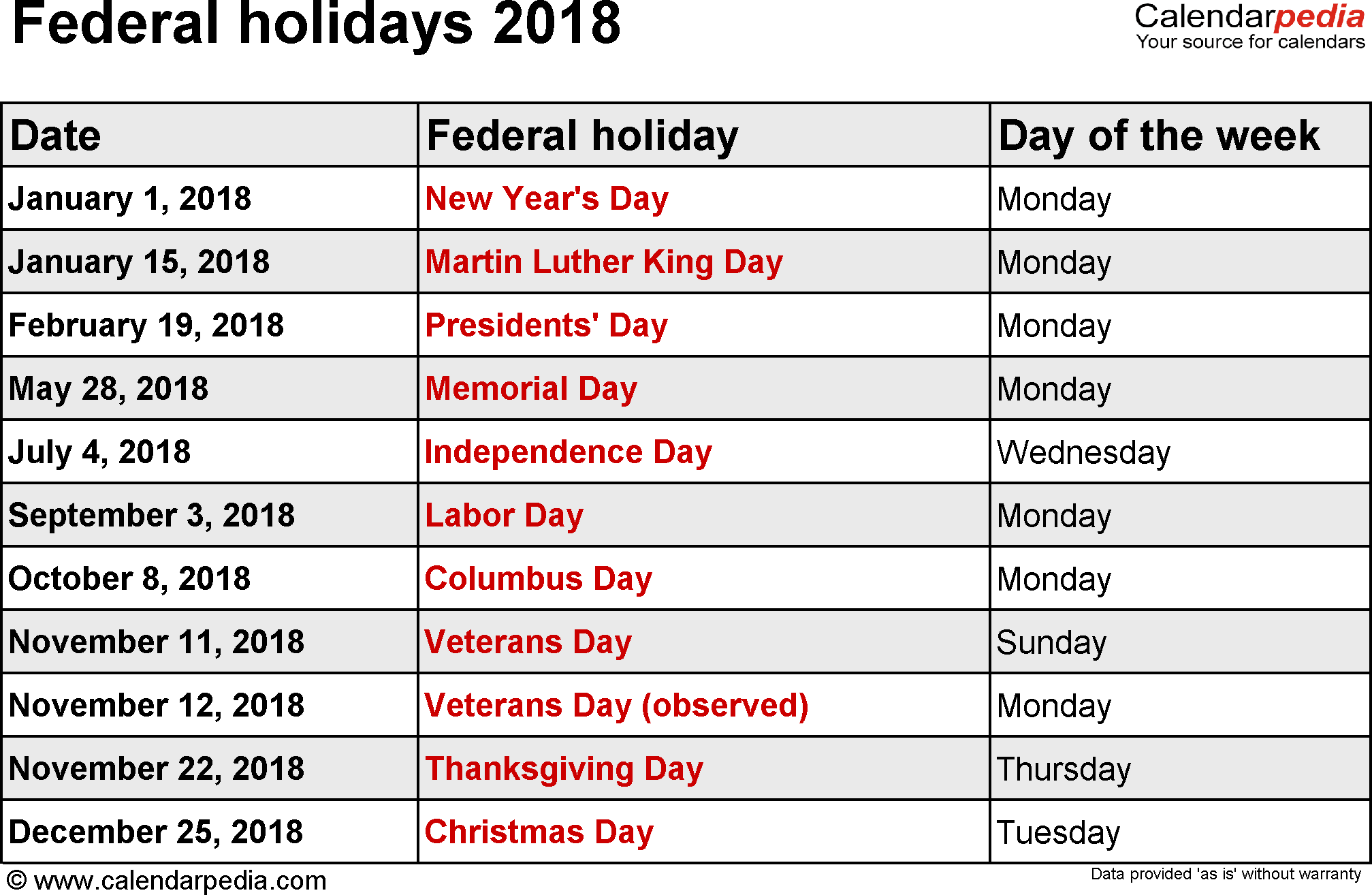 Calendario 2018 photogram