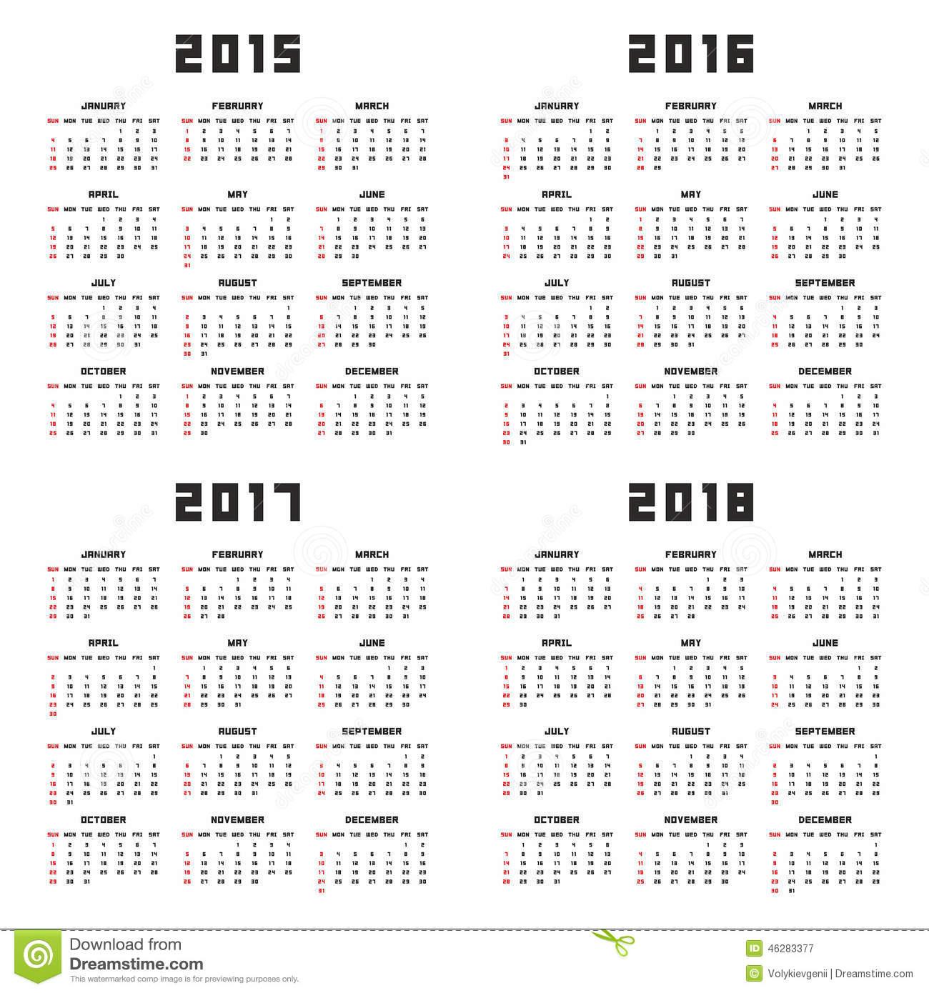 2018 Pocket Calendar | yearly calendar printable