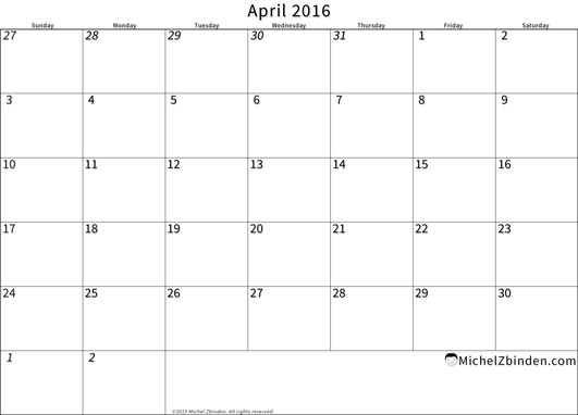 April 2017 Calendar Canada | monthly calendar printable