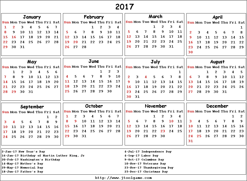 April 2017 Calendar With Holidays Canada | 2017 calendar with holidays