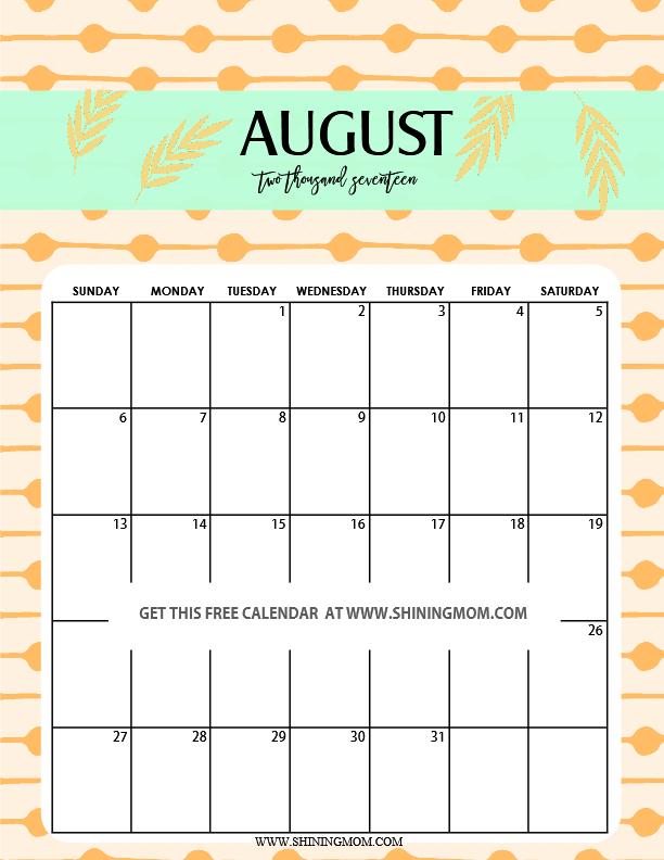 Fun and Cute 2017 Calendar Printable!
