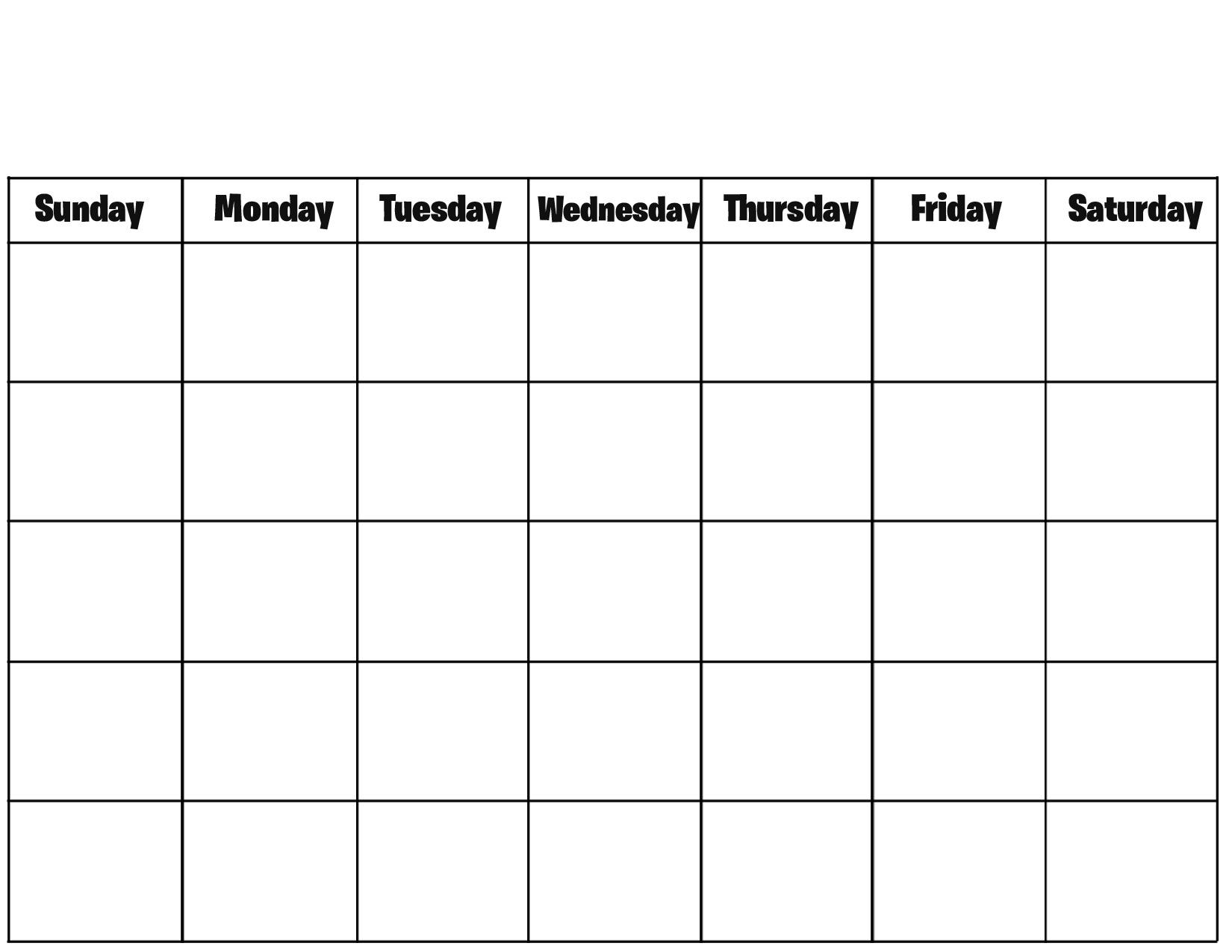 Blank Calendar 2017 Template – Free Printable Blank Monthly Calendars