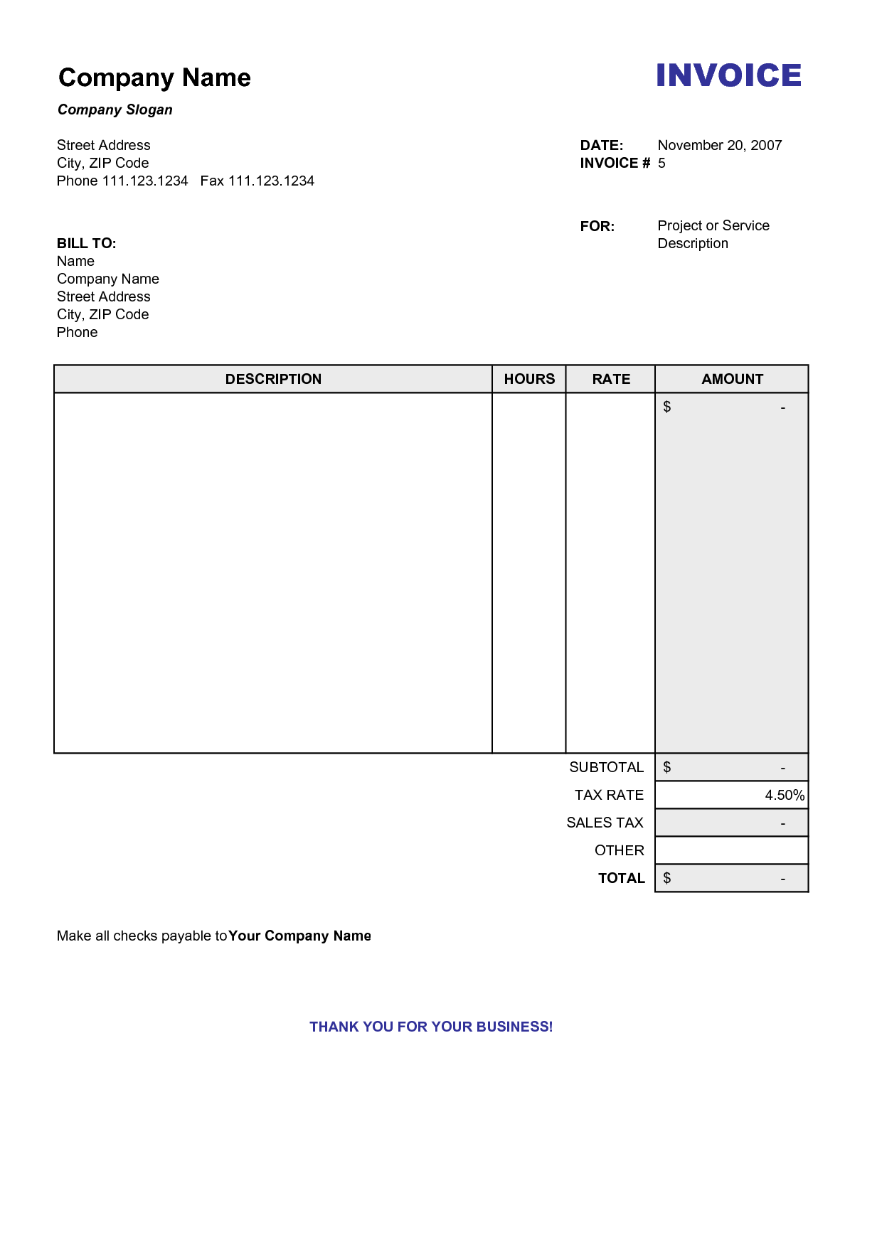 blank invoice excel download free invoice template IKoPys | free