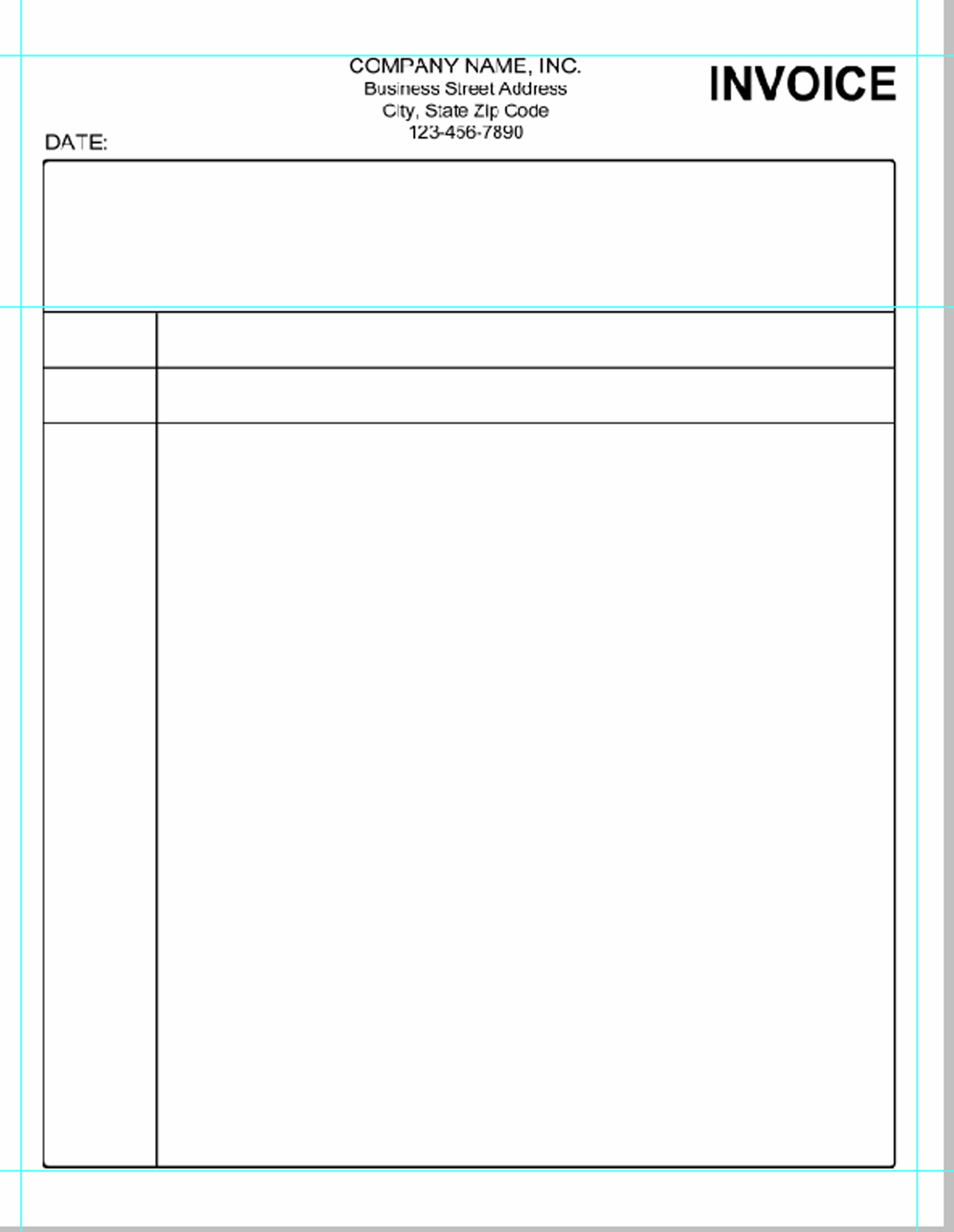 Blank Invoice Doc | printable invoice template