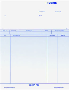 Blank Invoice Paper | printable invoice template