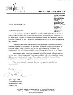 Recommendation Letter From Sally Steele