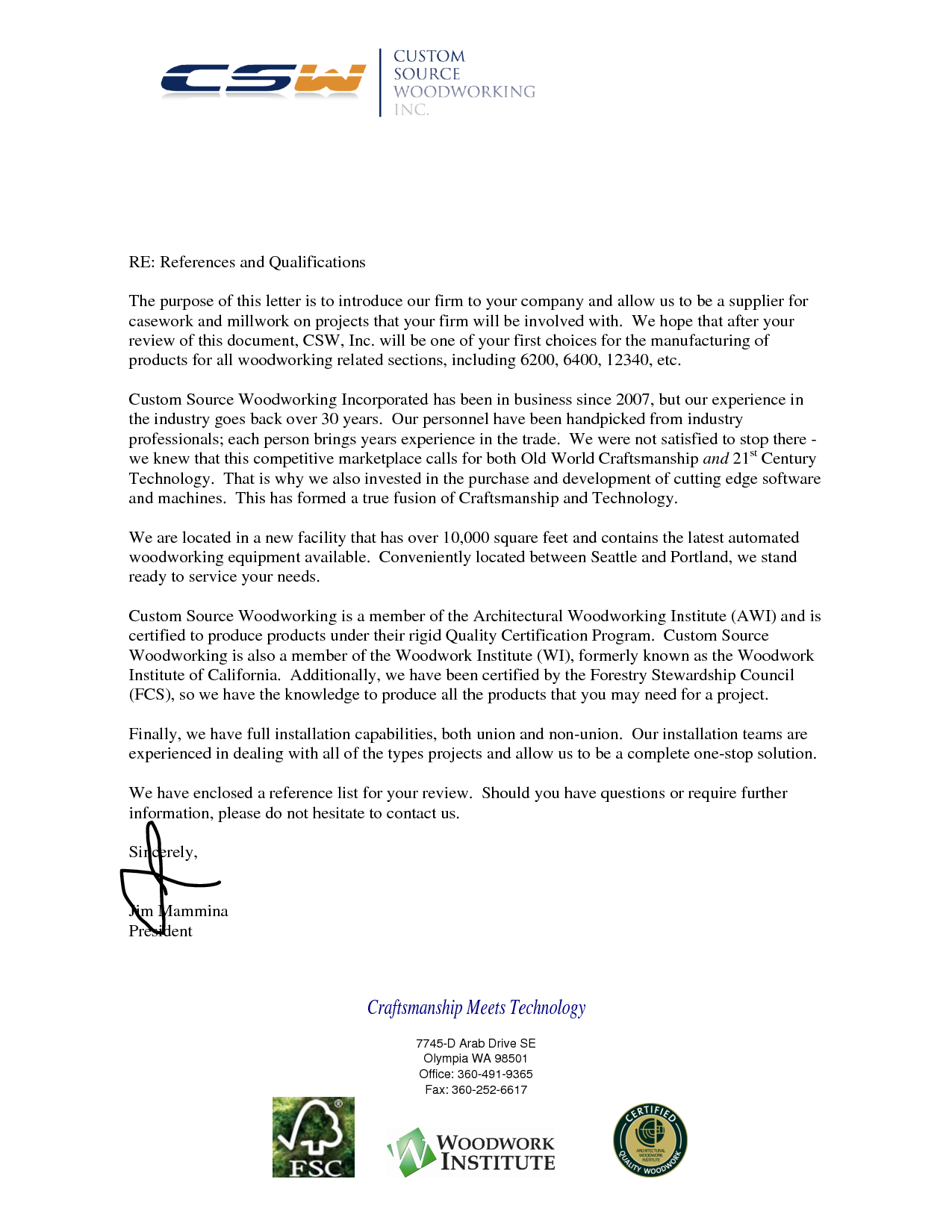 Letter of Recommendation From Beck General Contractor — EVstudio