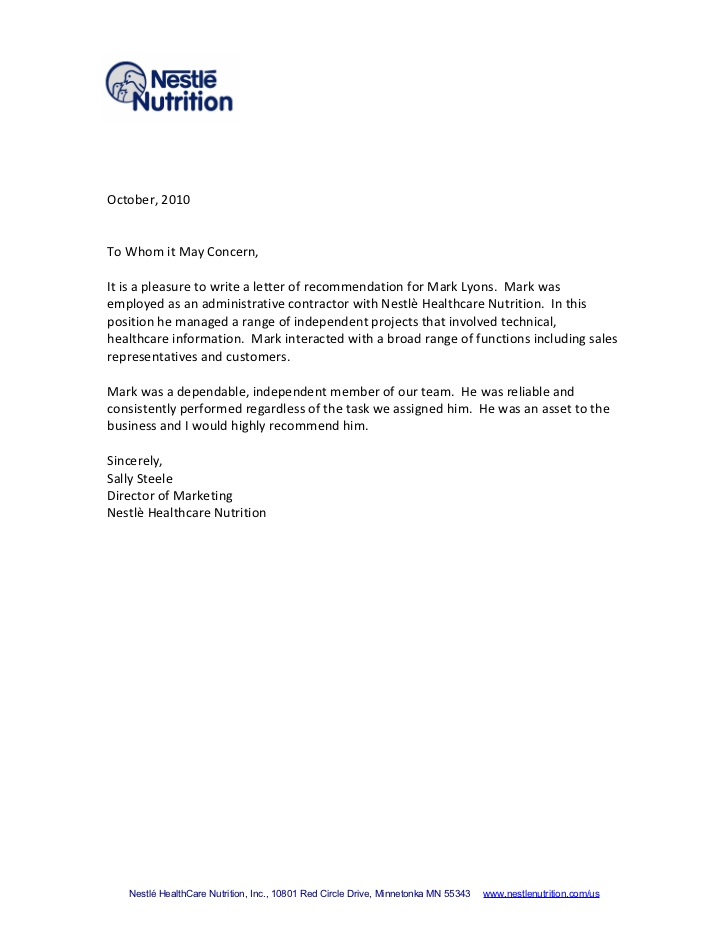 Best Photos of Business Customer Reference Letter Contractor