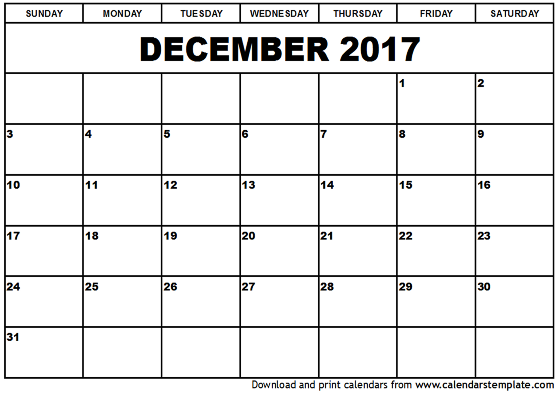 December 2017 Calendar Cute | weekly calendar template