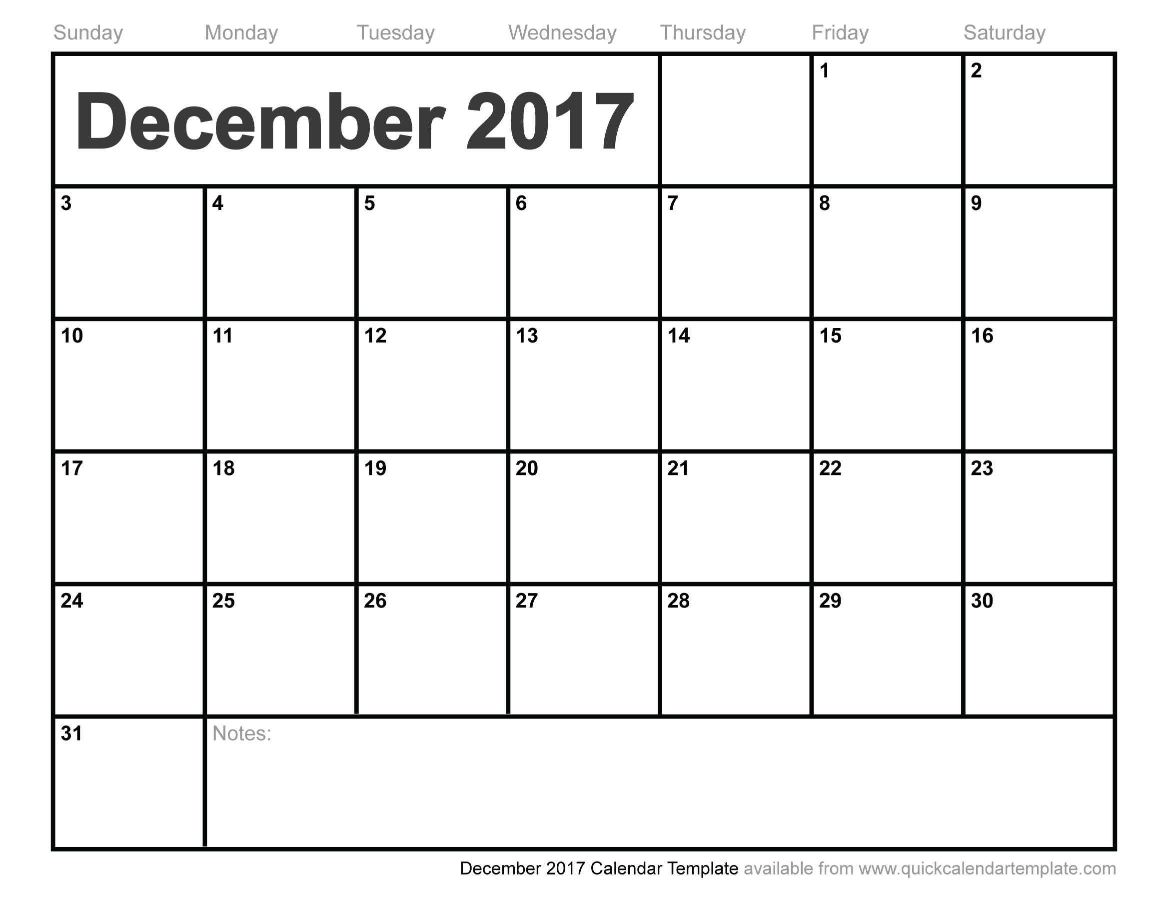 December 2017 Calendar Printable | monthly calendar printable