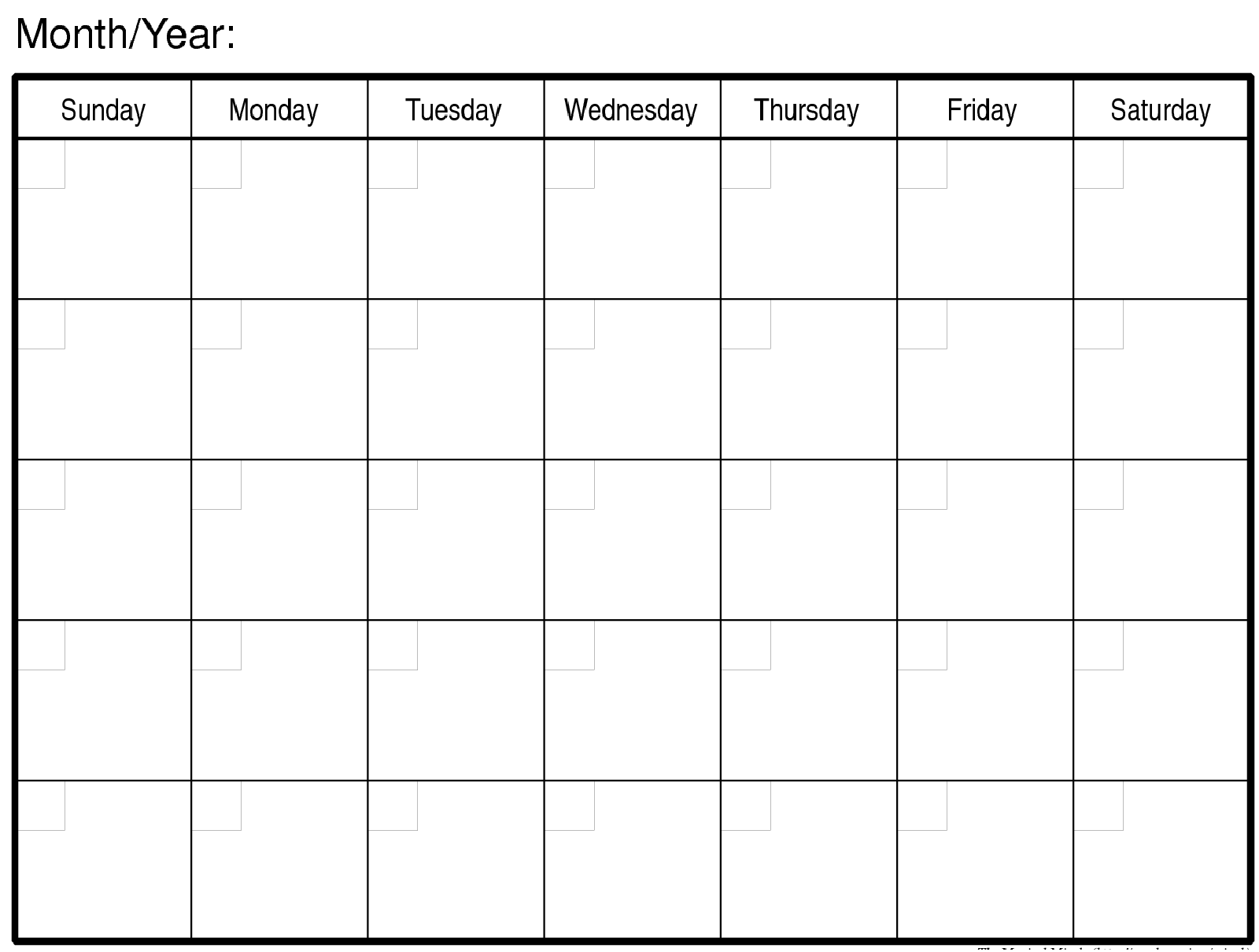Editable Monthly Calendar | printable calendar templates