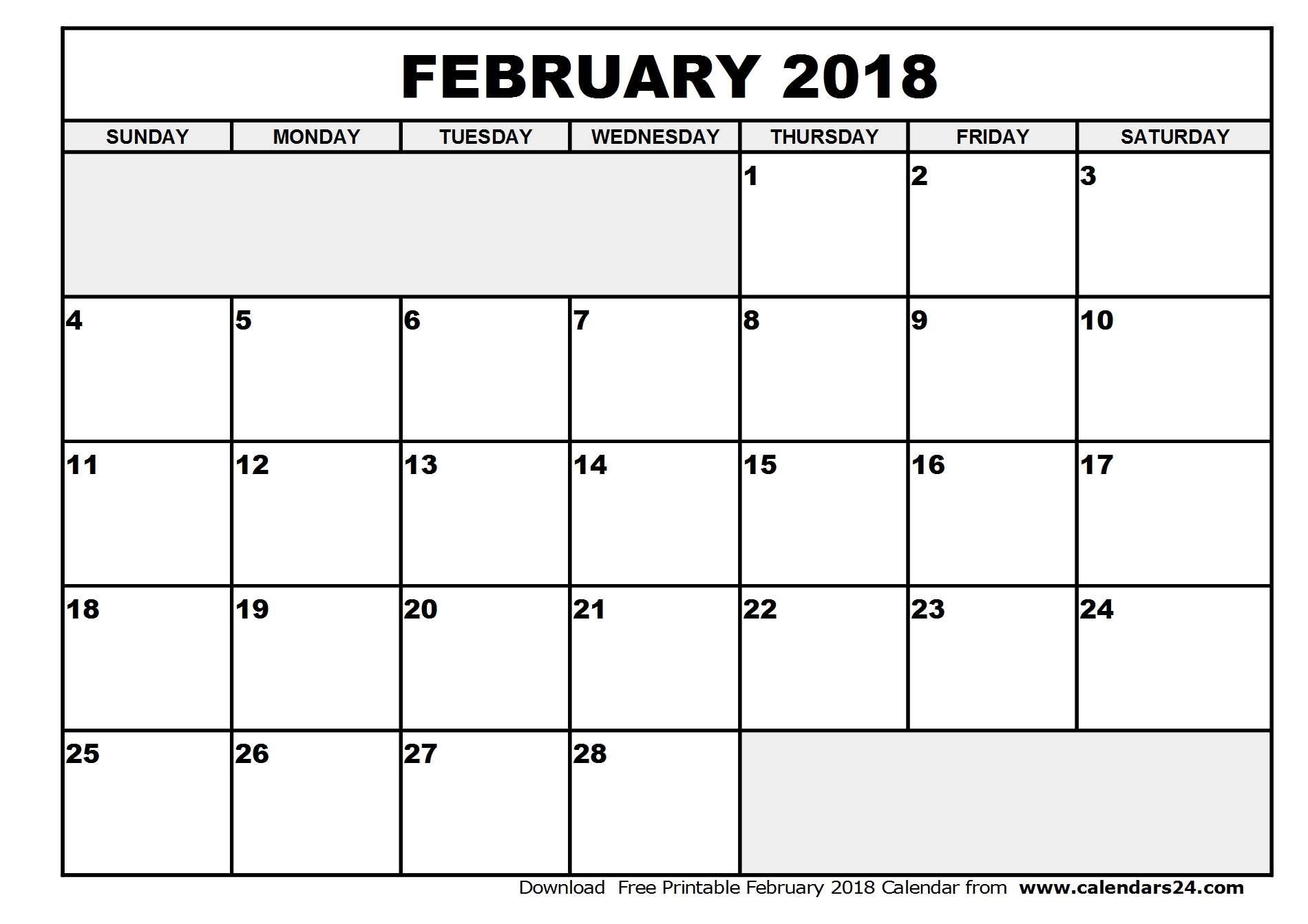 February 2018 Calendar & March 2018 Calendar