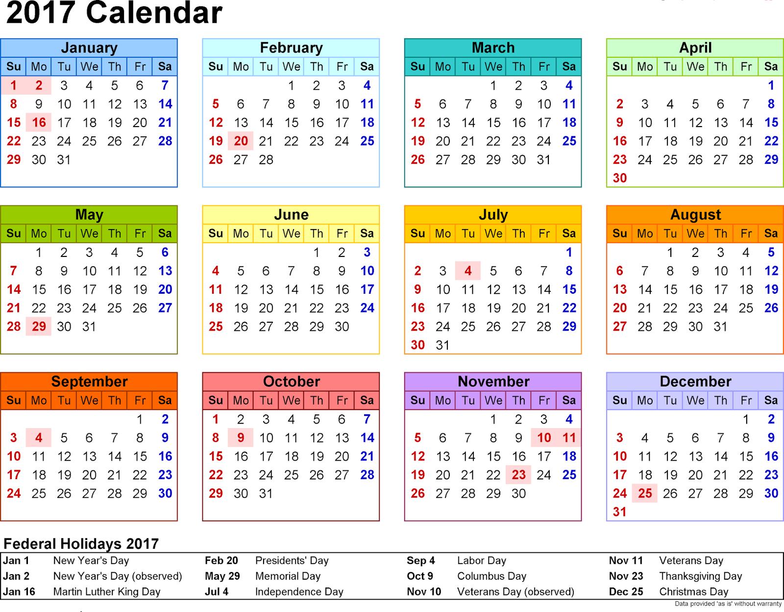 Islamic Calendar 2017 with Muslim Holidays