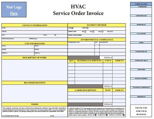 1000+ images about HVAC Invoice Templates on Pinterest | Words