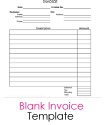 Blank Invoice Template | BlankInvoice.org