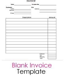 Blank Service Invoice | BlankInvoice.org