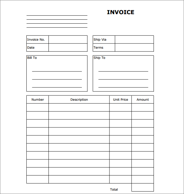 Hvac Service Invoice Template Pasoevolistco - Printable invoice template free for service business