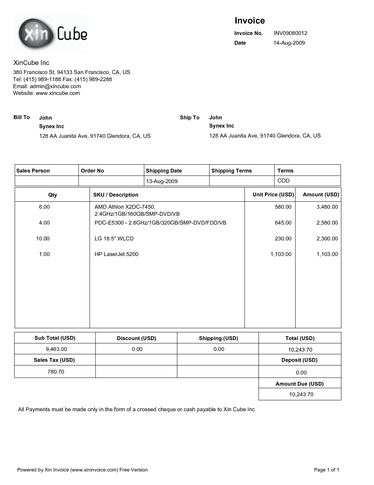 invoice template pdf free screenshot invoiceberry invoice template