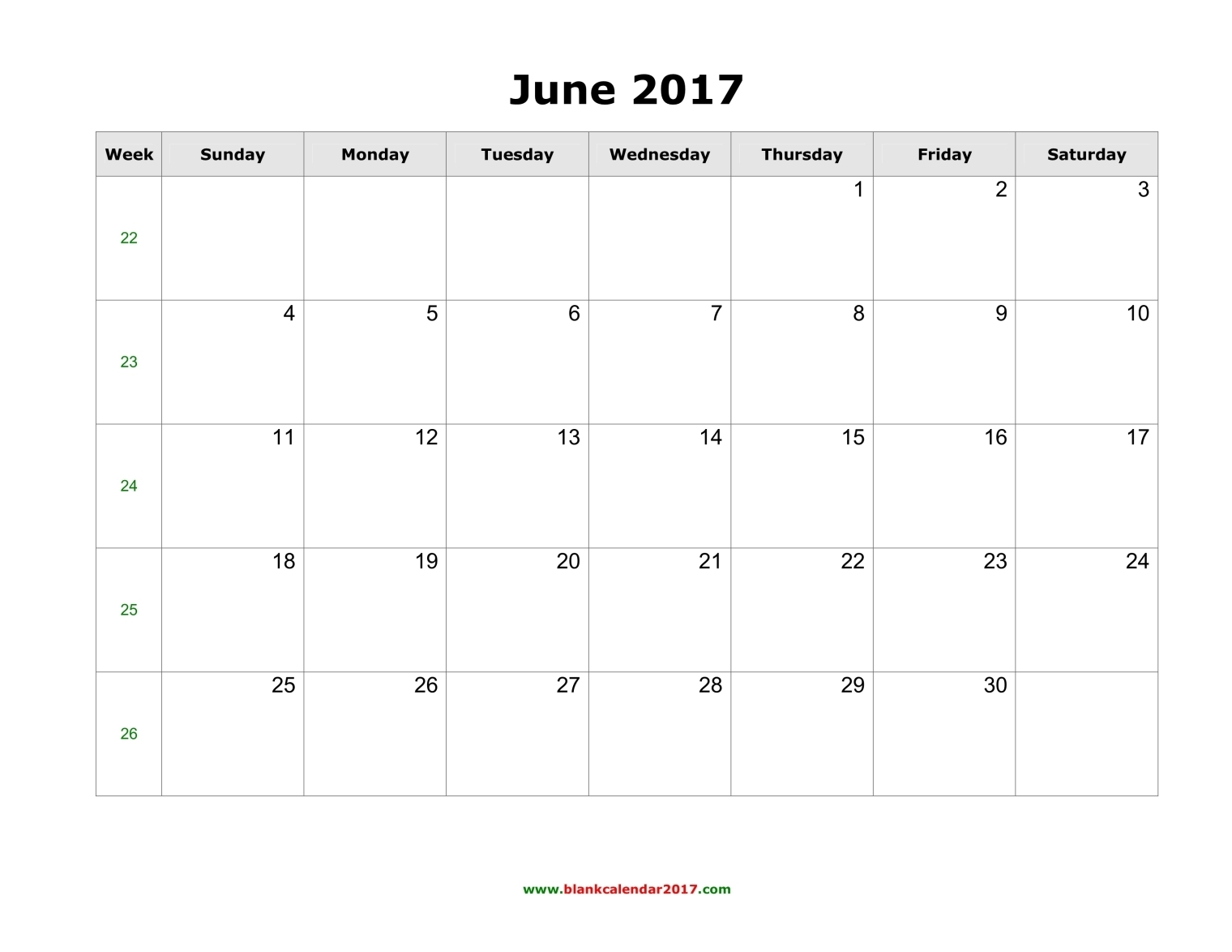 June 2017 Calendar Printable With Holidays | weekly calendar template