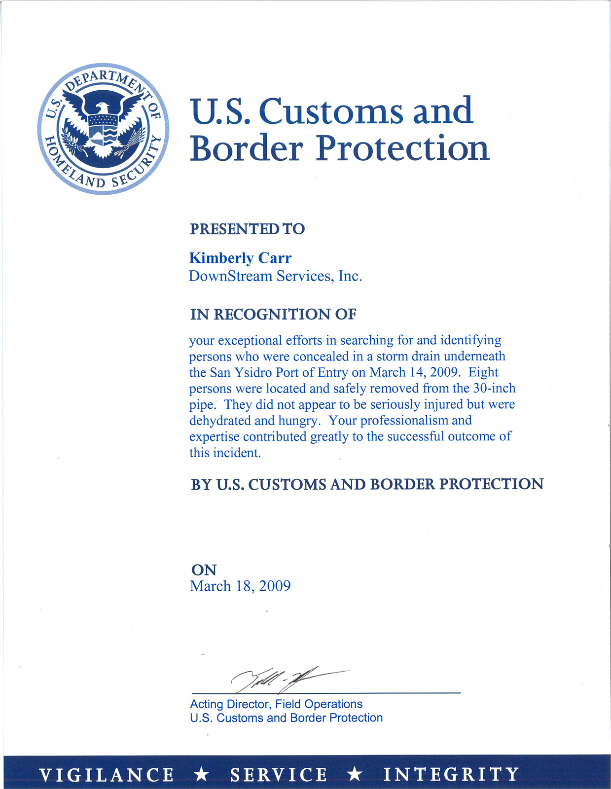 sample letter for immigration recommendation