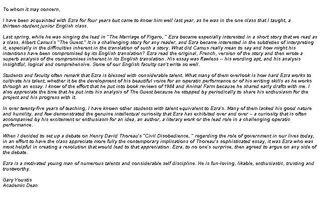 letter of recommendation for leadership program Best Letter Example