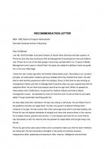 recommendation letter for leadership program Best Letter Example