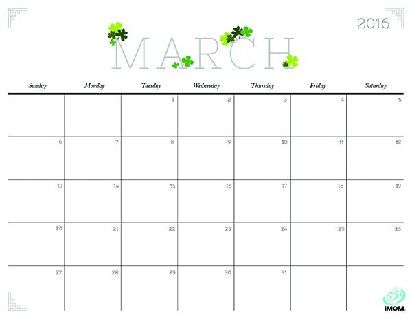 March 2017 Calendar Cute | free calendar 2017