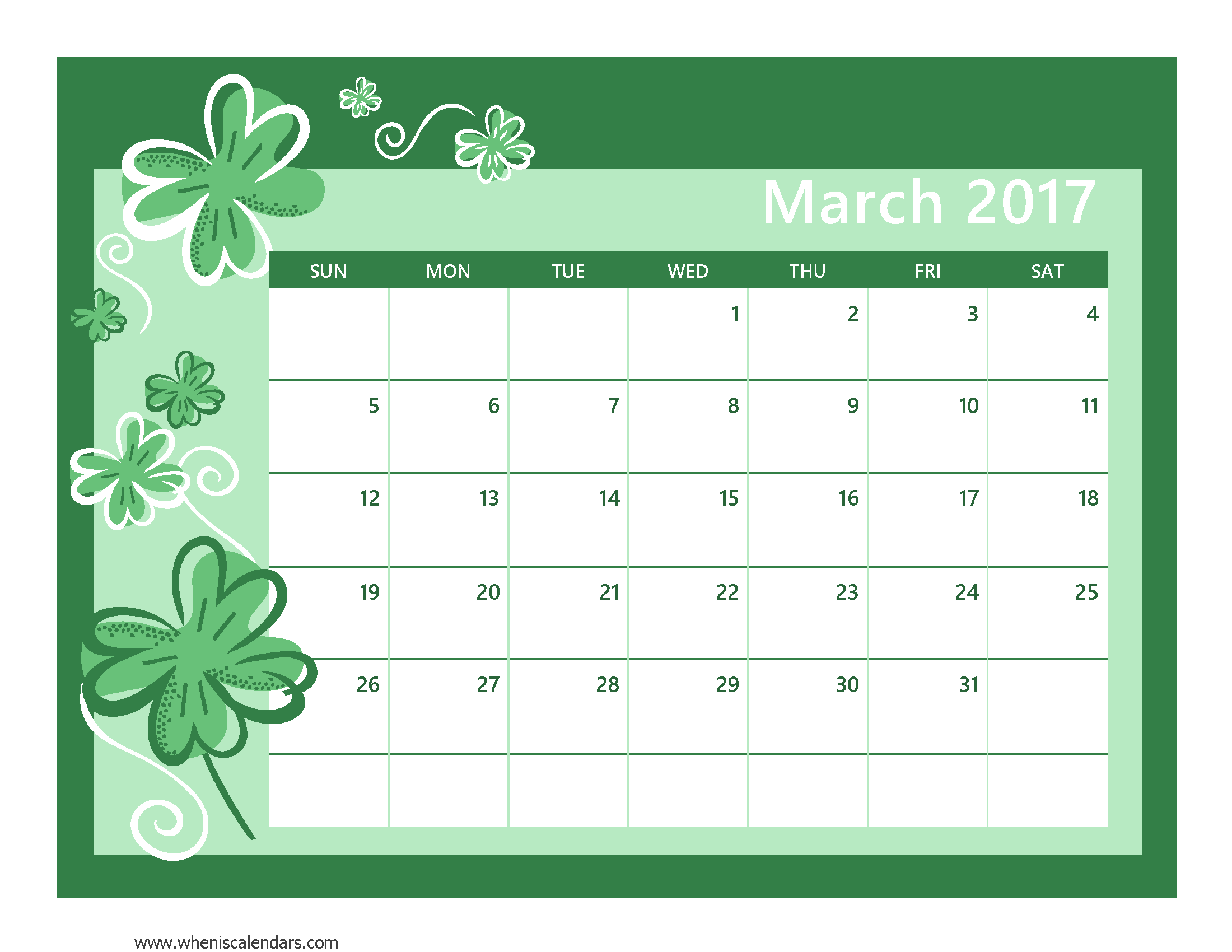 March 2017 Calendar Pdf | printable calendar templates