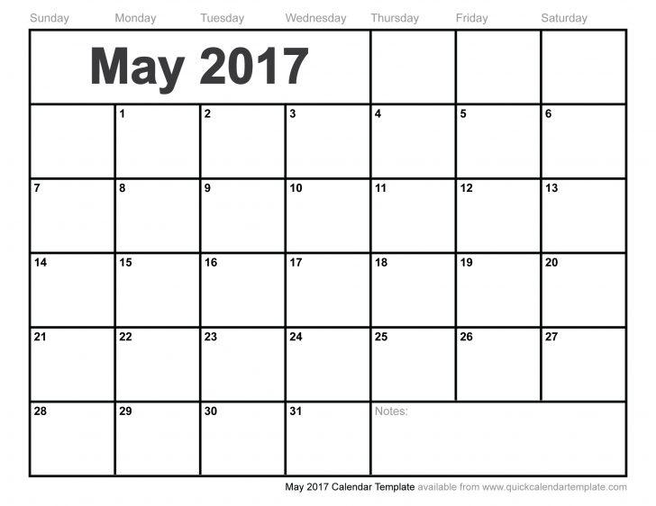 May 2017 Calendar Template | free calendar 2017