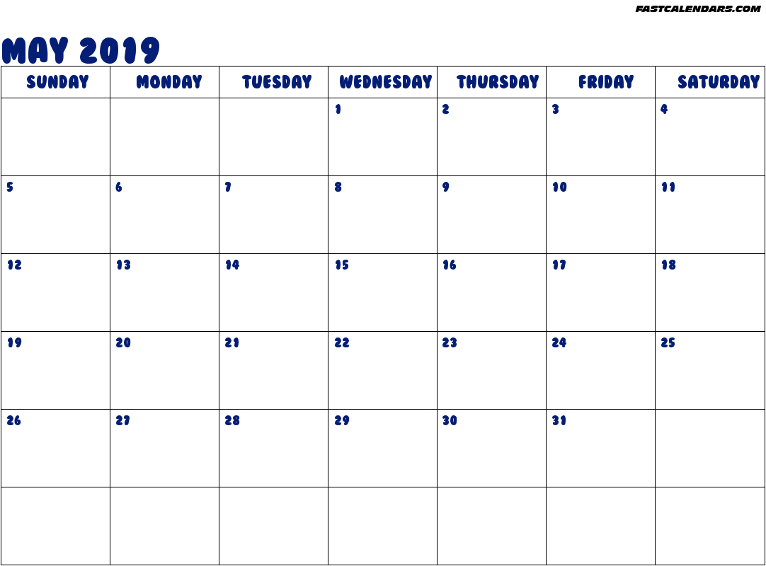 May 2019 Roman Catholic Saints Calendar