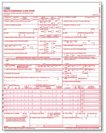 Amazon.: CMS 1500 / HCFA 1500 Medical Billing forms (50 Sheets
