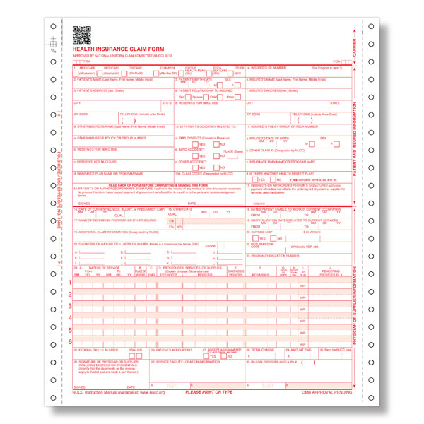 Medical Claim Form   Templates Free Printable