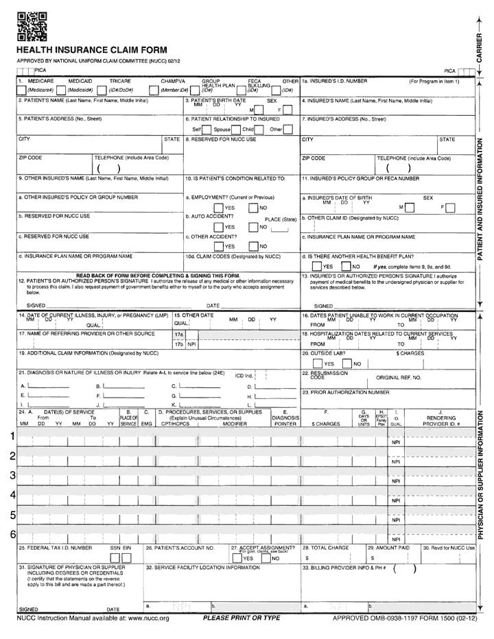 CMS 1500 Claim Form Tutorial Noridian