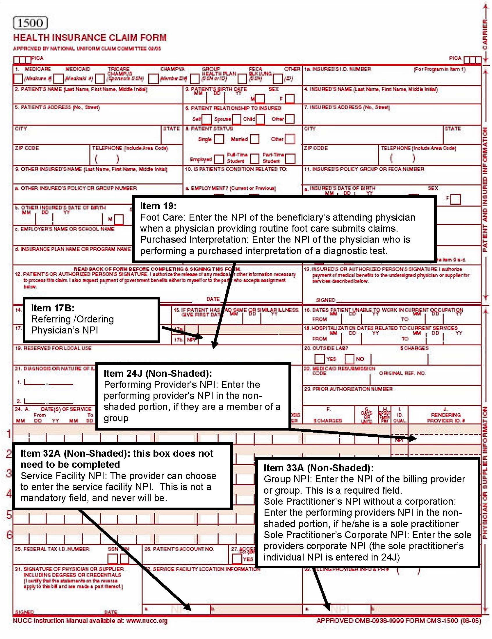 Medical Claim Form 1500 - templates free printable