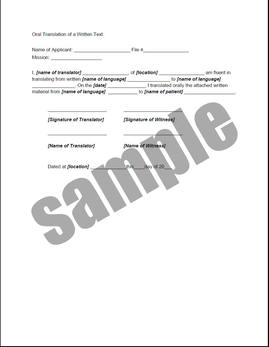 Health related forms, documents and templates