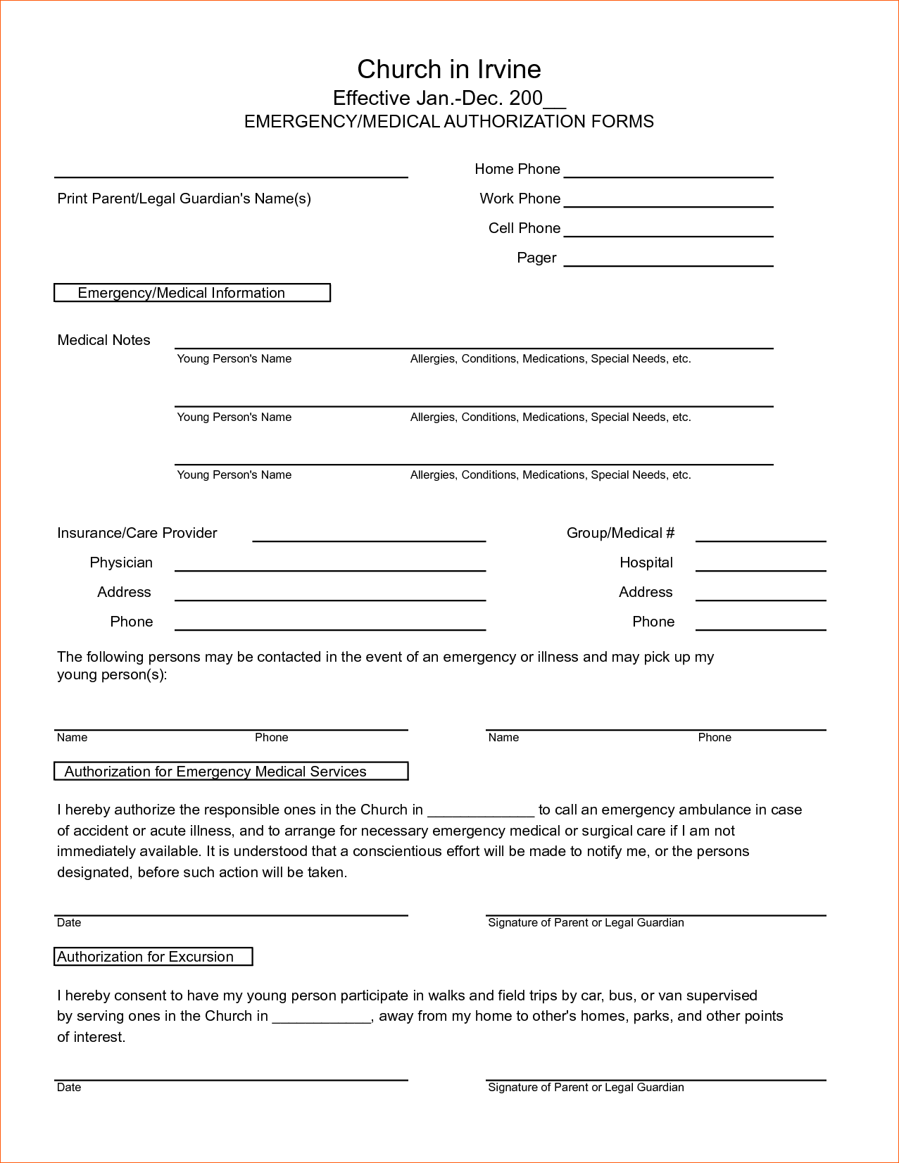 Medical Authorization Form Template. generic consent form template