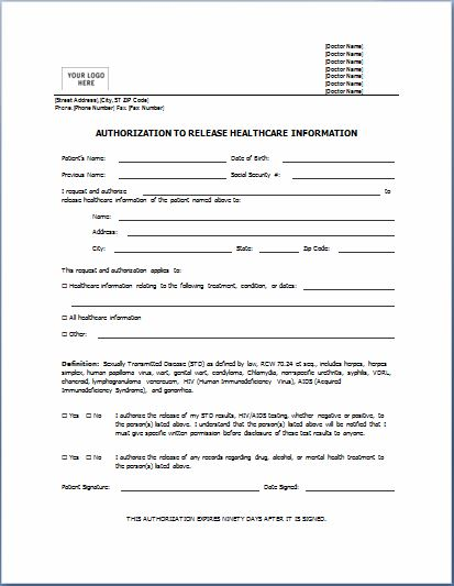 Medical form templates microsoft word templates free for Generic consent form template