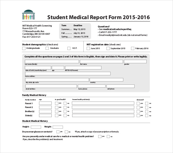 8+ Medical Report Templates Free Sample, Example, Format