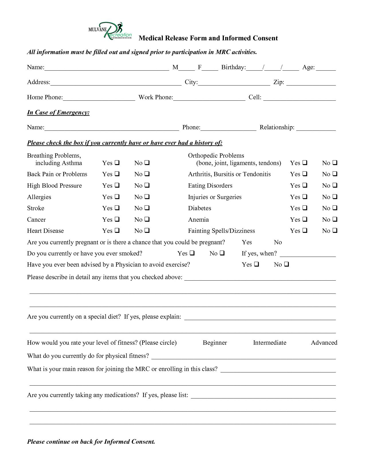 Best Photos of Medical Informed Consent Form Medical Informed