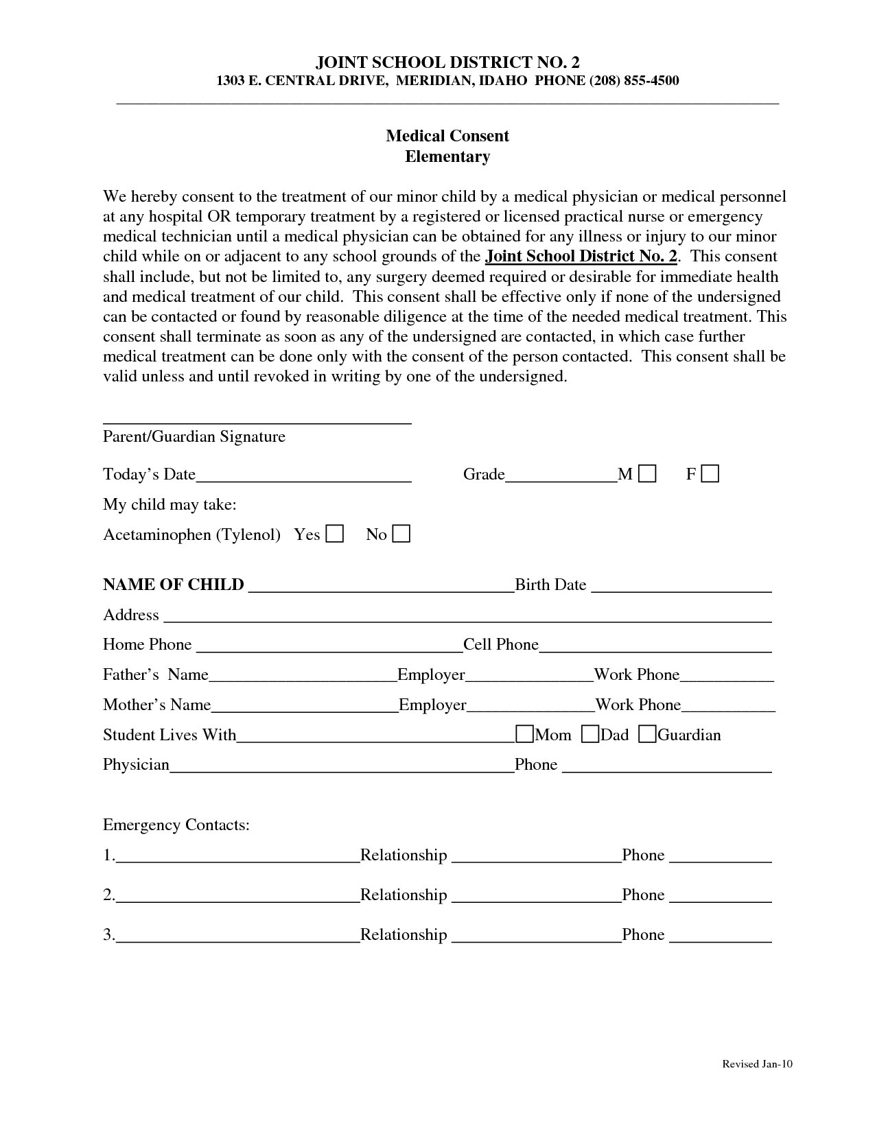 Medical Consent Form Template. school trip consent form | buy